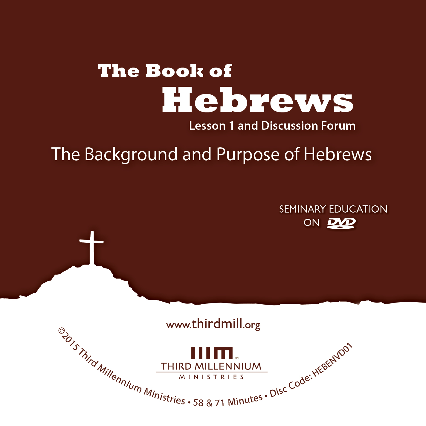 The Book of Hebrews: The Background and Purpose of Hebrews (high