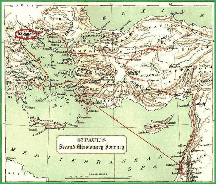 Map of Second Missionary Journey